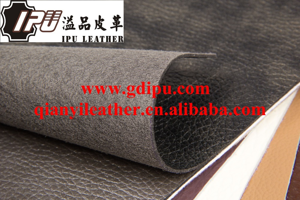 Wholesale pu shoe material with anti-hydrolysis microfiber fabric leather made in Guangdong