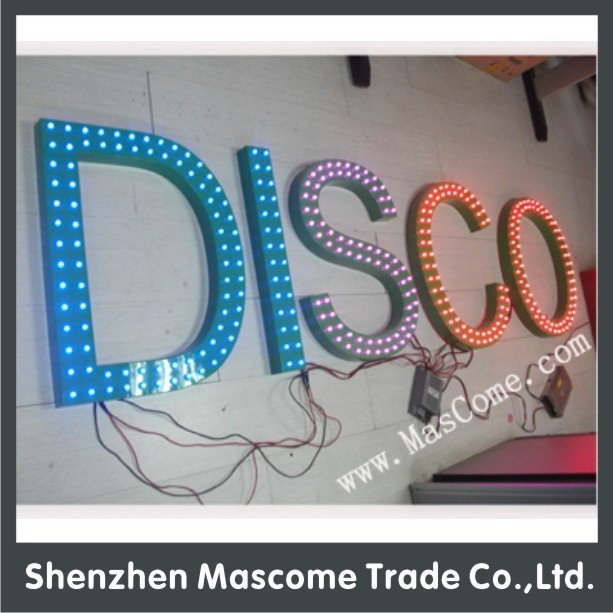 front lit led epoxy resin letter signs for advertisement
