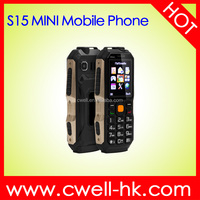 Best Seller Africa S15 Mini 1.77 inch Dual SIM Card Very Small Size Low Price China Mobile Phone
