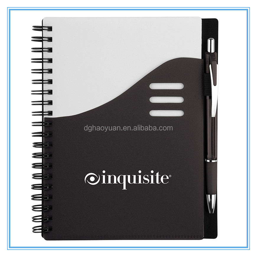 pp spiral note book with pen portfolio notebook