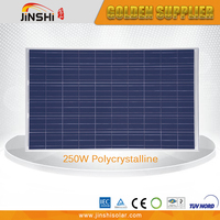 CE TUV certificated factory price 250 watt photovoltaic solar panel