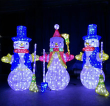 Holiday outdoor decorative LED light christmas snowman