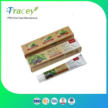 PHYTO herbal OEM WHITENING toothpaste factory 100G