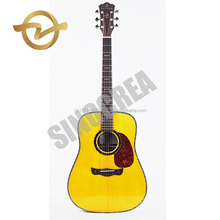 "Cheap price high grade 41"" Solid Sitka Spruce acoustic guitar made in China"