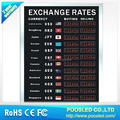 customise currency display board \ led currency foreign sign \ led currency banner