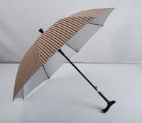 unique antique polyester pongee walking stick umbrella