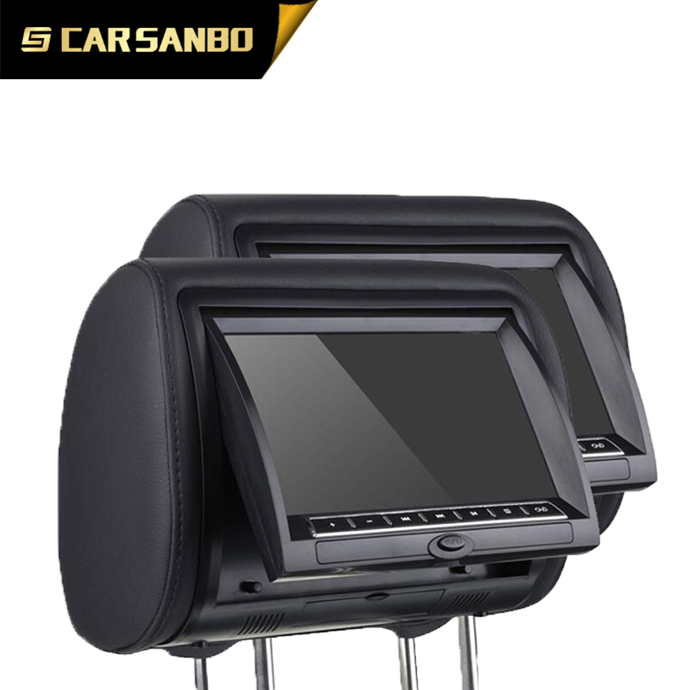 TFT LED dual monitor portable dvd player for car headrest seat back