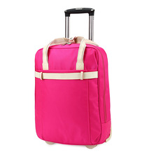 Fashion Hot Sale Girls Cute Travel Portable Pink Luggage Trolley Bag for Ladies