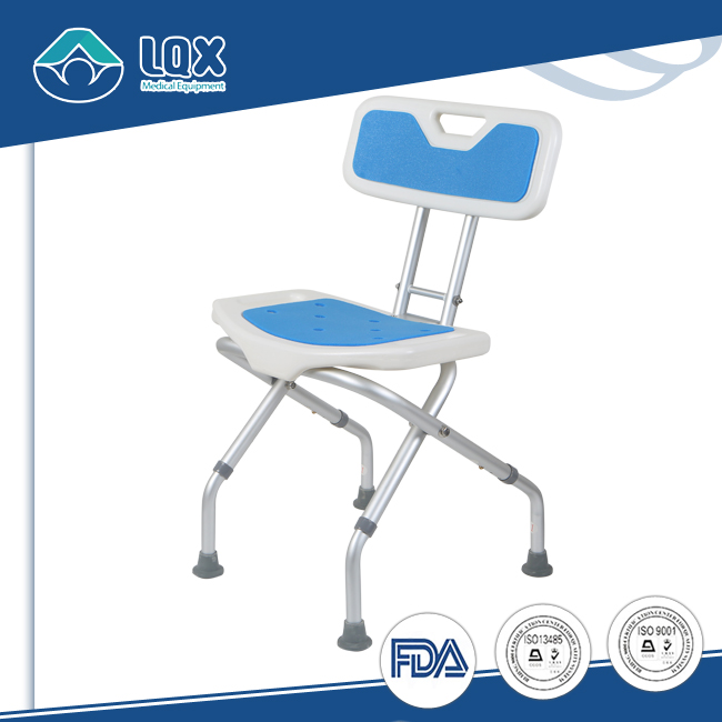 Elderly Care Product Bath Stool Swivel Shower Chair WITH Foldable Back