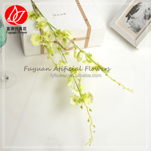 140930 single stem Fake dancing lady fabric orchids for sale