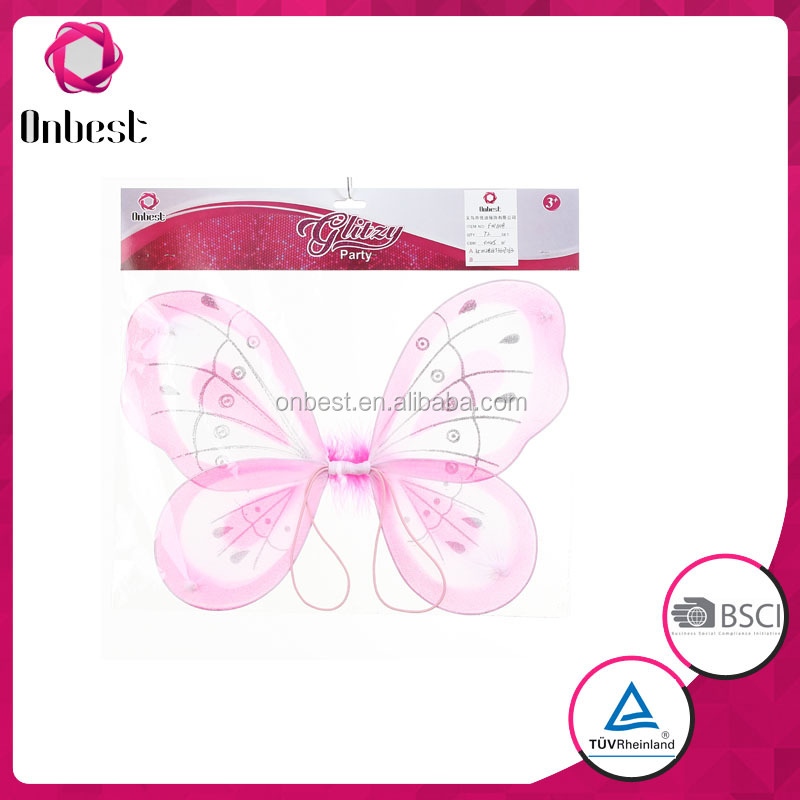 Party butterfly wings / fairy wings set Performance Prop carnival costume wholesale Butterfly sets for kids party