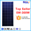 High efficiency 150w polycrystalline solar panel with frame and MC4 connector