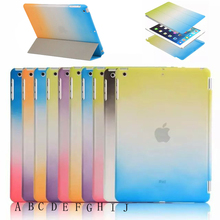 Rainbow Pattern Smart Cover for iPad 2/3/4 with Wake up/Sleeping Function