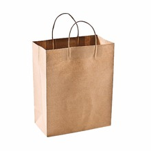 small quantity flat bottom stand up paper tote biodegradable kraft paper bag