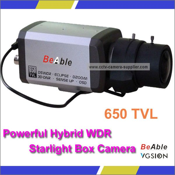 2.7-13mm Anpherical Optical Auto Iris Lens Made In Japan 650TVL Hybrid WDR Starlight Low Illumination CCTV Starlight Camera