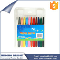 Color box set wholesale 12 color kids drawing crayons