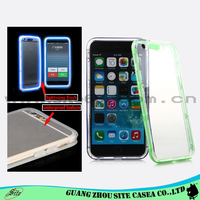 For iphone 6 plus cover Flashing LED Clear tpu cell phone case for iphone 6 plus