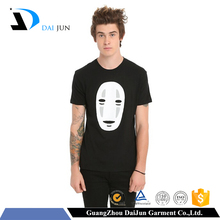 Daijun oem men short sleeve hot sale black breathable print cheap anime t shirts