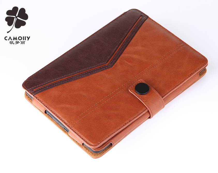 2017 new fashion style boutique design color combined genuine leather tablet cover case for ipad air 1/2/3/pro