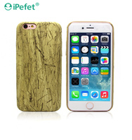 Luxury Soft Glossy Custom TPU Wood Pattern Mobile Case for iPhone 6