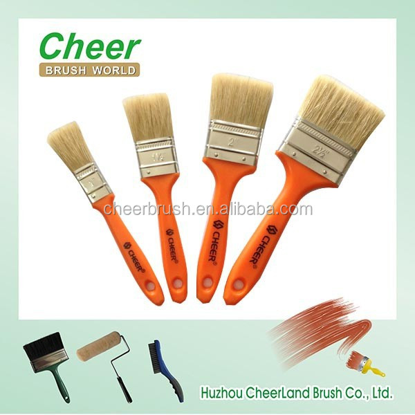 popular paint brush set manufacturers china Cheer brush with solid plastic handle