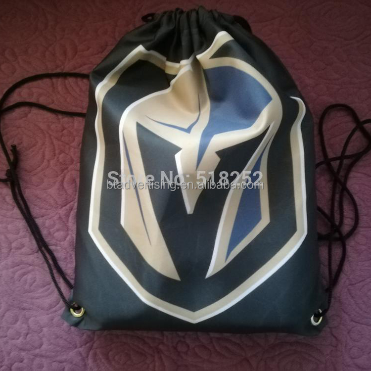 NHL 35x45cm Sports Team Las Vegas Golden Knights drawstring backpack Customize Bags