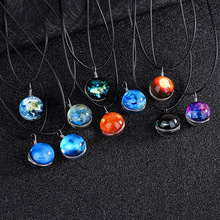 Luxury High Quality Fashion Jewelry Planets Nebula Mercury Venus Earth Mars Jupiter Saturn Uranus Neptune Pluto Pendant Necklace