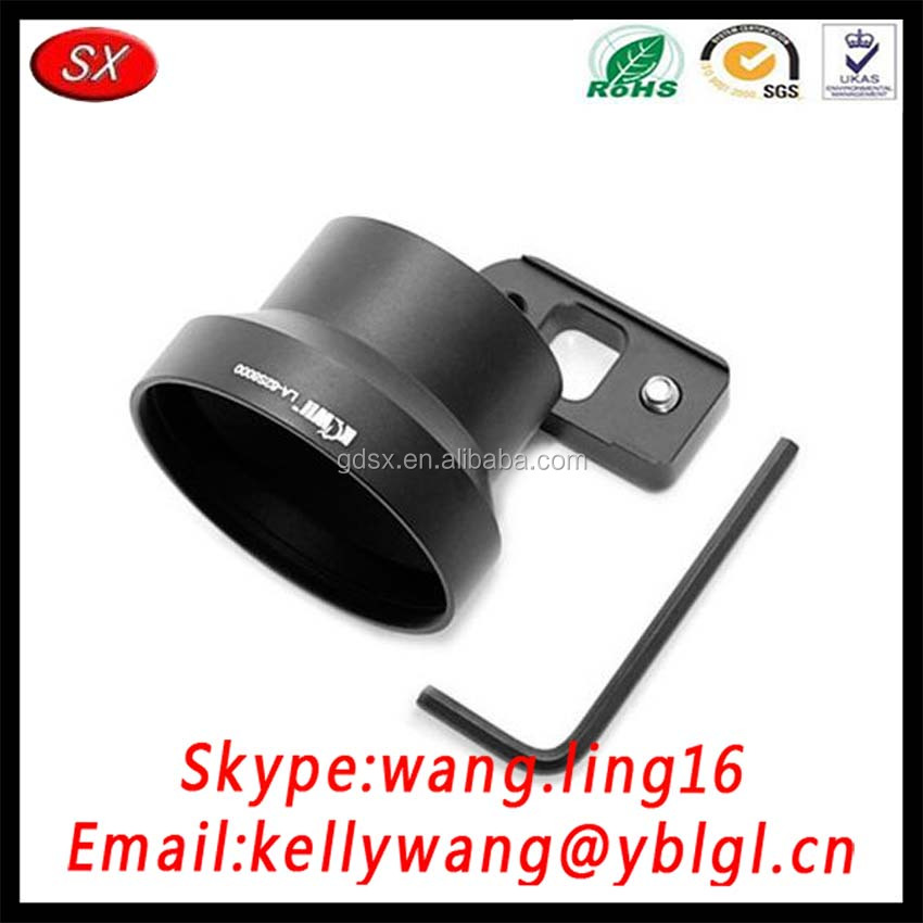 CNC Machining Aluminum 6063-T6 Black Universal Lens Adapter 37MM To 58MM