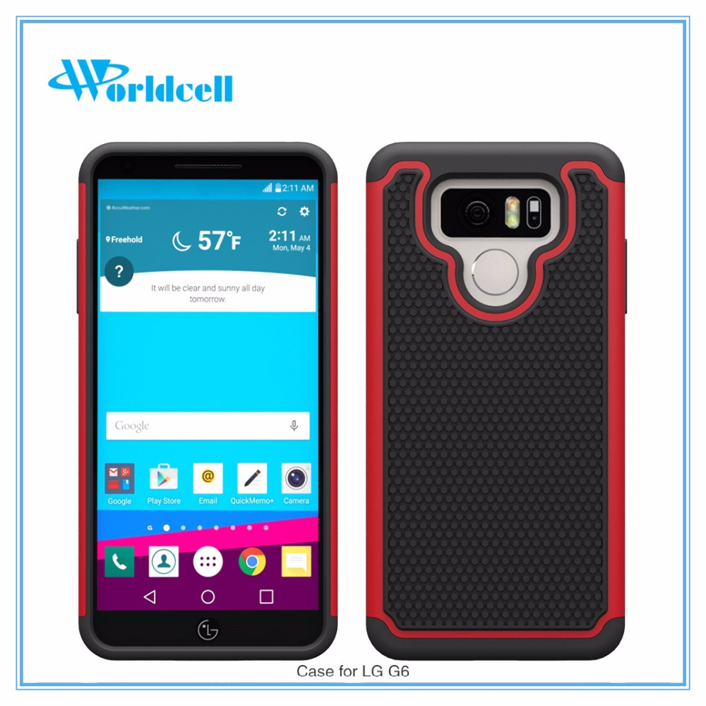 full protective luxury phone case for LG G6 with football grain