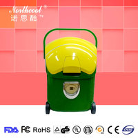 Roll mini portable car refrigerator for car and household