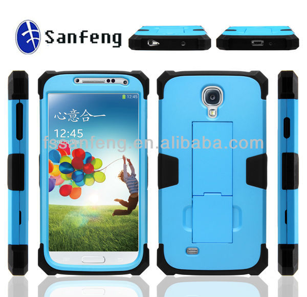 Android phone pc + silicon robot design case for Samsung Galaxy S4 case with stand