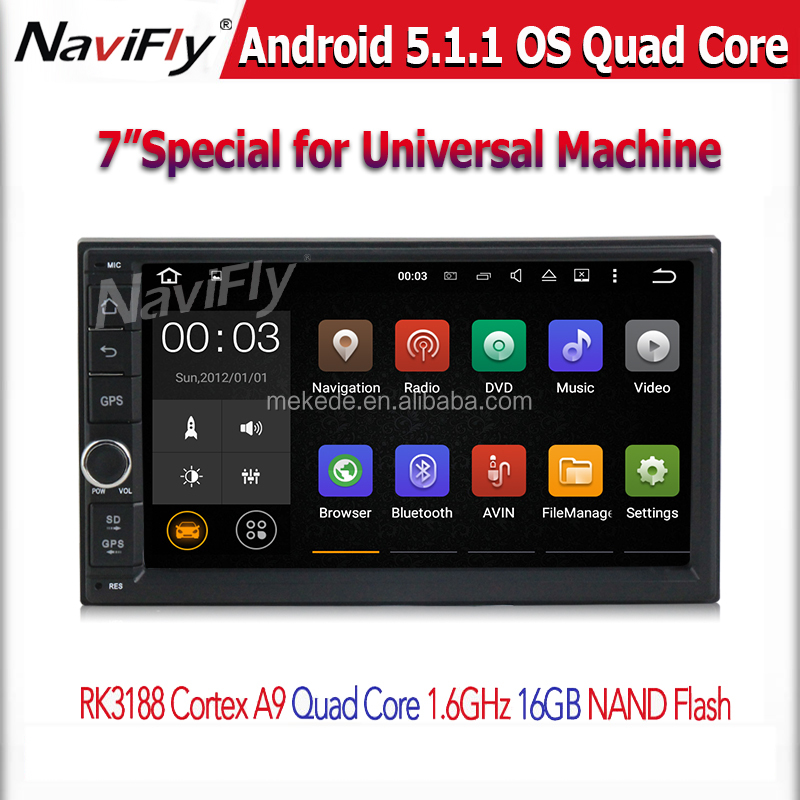 7'' Double 2Din Android 5.1 Car Multimedia GPS navi car Audio 2 din 7 inch car Stereo auto Radio Navigator