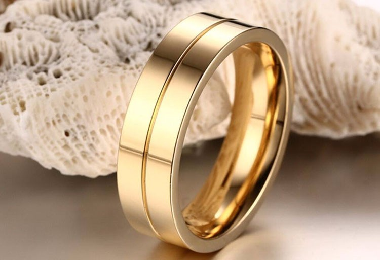 Ally Express Cheap Engagement and Wedding Ring Set, New Gold Finger Ring Designs For Men Girls Jewelry, Stainless Steel Ring