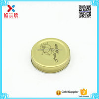 factory wholesale golden color twist off glass jar lid metal lug cap