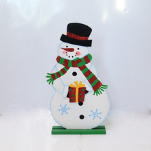 Hot selling wooden craft table christmas decoration xmas ornaments