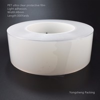 Ultra clear / top quality light adhesion plastic PE protective film roll