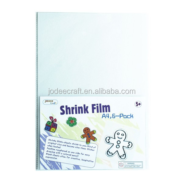 A4 shrinky plastic sheets