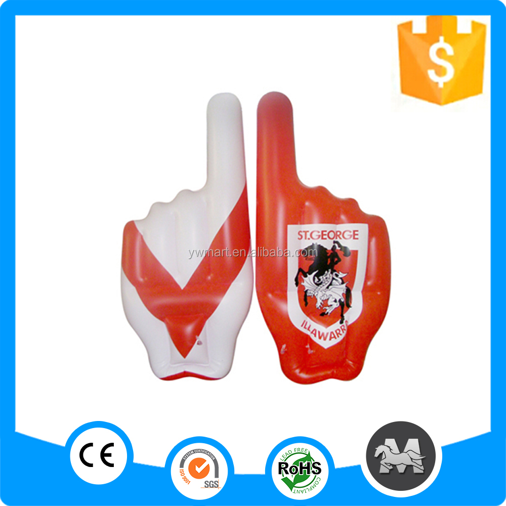 Advertisement 2016 advertising inflatable hand, cheering inflatable hand, inflatable PVC hand