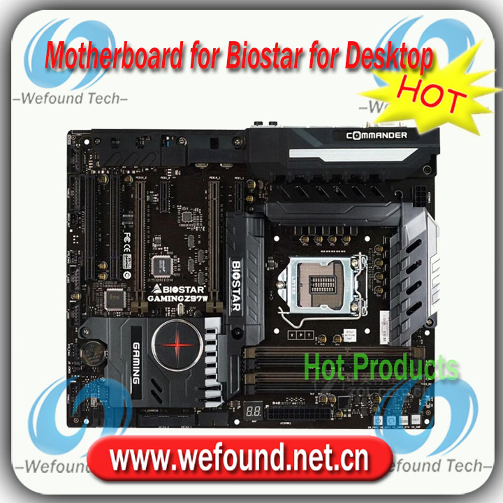 100% working for Biostar GAMING Z97W motherboard for Desktop for Core i3 i5 i7 Pentium Celeron for LGA 1150 for DDR3 RAM