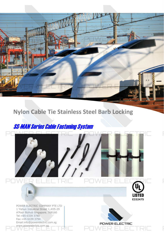 Nylon Cable Ties Stainless Steel Barb Locking