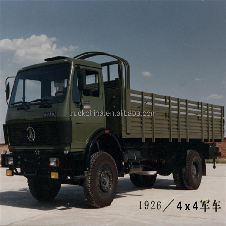 Use mercedes technology BEIBEN 4x4 cargo truck army trucks for sale