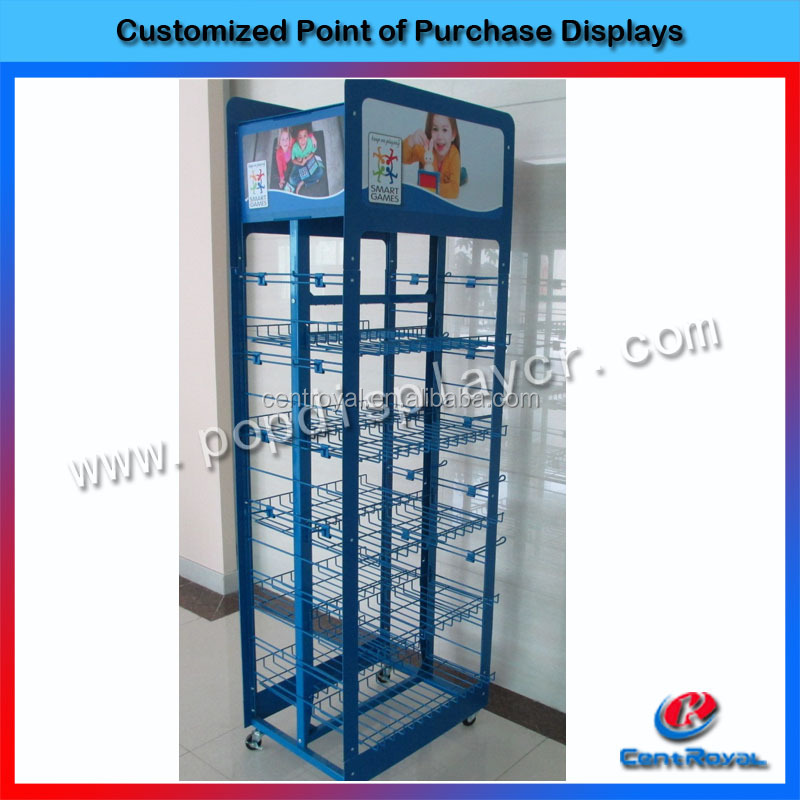 New arrival movable toy display cabinet/toy display stand/toy glass display case