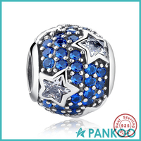 925 Selling Silver Jewelry Large crystal Beads Star Charm