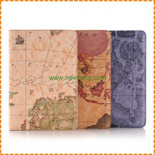 Good Quality Map Leather Stand Wallet leather Case for iPad Pro 12.9""