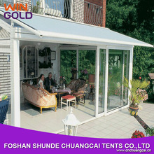 Customized 5x6m aluminum roof cover electric awning retractable pergola awning for balcony