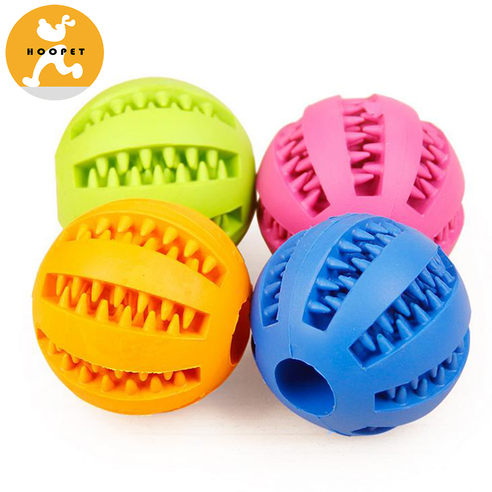 Dog Toy Ball for Pet Training/Playing/Chewing, Non-Toxic Soft Rubber Tooth Cleaning Toys