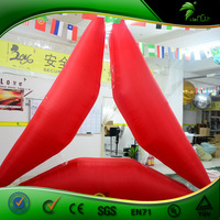 Hongyi Custom Red Inflatable Triangle Balloon / Outdoor PVC Inflatable Models