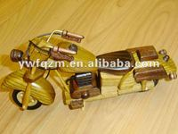 chinese wooden toy mini motorcycles for gifts or promotion