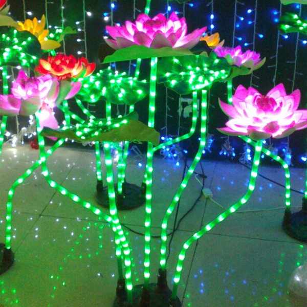 H80cm D70cm IP68 River Garden Lighting Christmas Decoration Outdoor Simulation Led Lotus Tree Lights