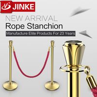 Railway Crossing Barrier,High Quality Silver/Golden Unique Top And Ring, Rope Stanchion